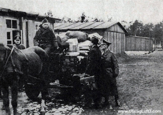 Delivery of POW Mail at Stalag Luft III
