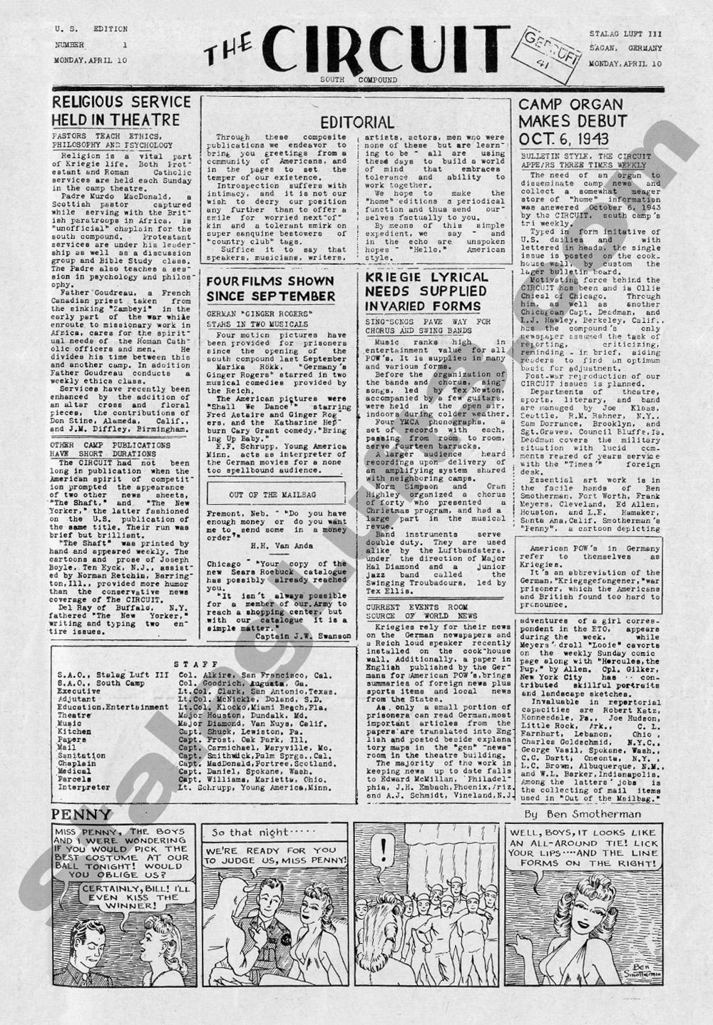The Circuit POW Newspaper Published in Stalag Luft III