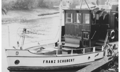 Ferry used by POWs from Marlag und Milag Nord to cross the Elbe