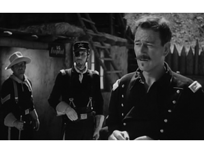 POW Colonel Peter Ortiz as he later appeared in the John Ford Movie Rio Grande with John Wayne