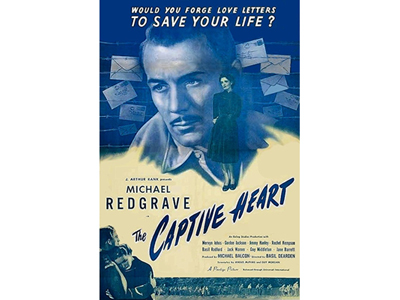 Poster from the Movie The captive Heart which was shot at Marlag und Milag Nord after the War