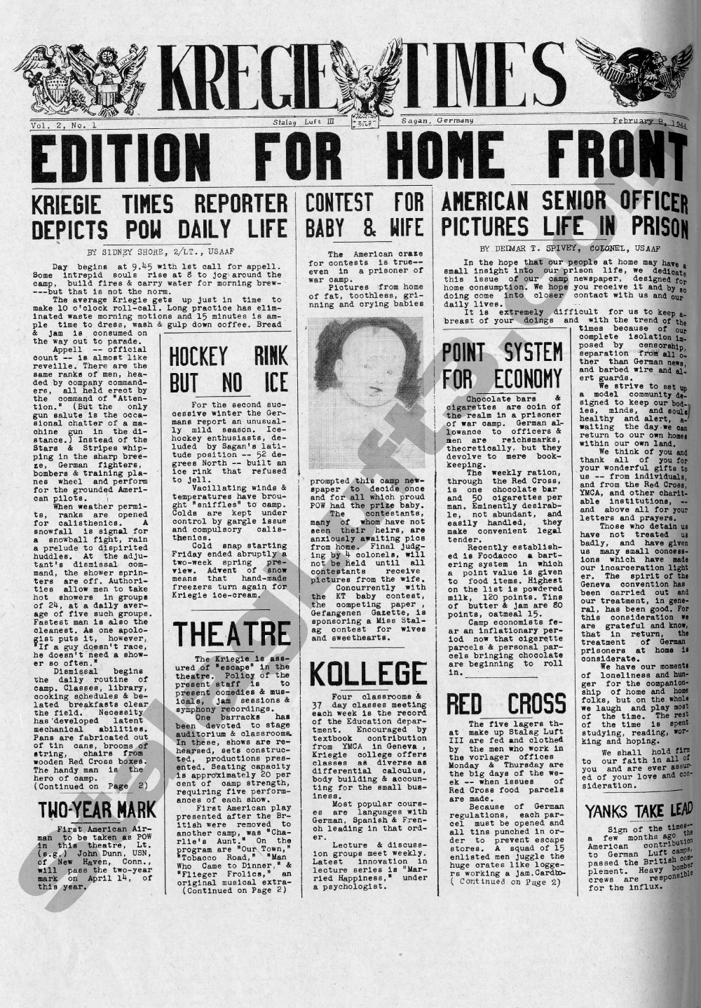 The Kriegie Times POW Newspaper Published in Stalag Luft III