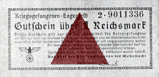 Lagergeld the ersatz currency used by POWs in Germany during World War II