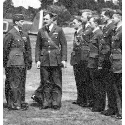 F/Lt Keen with King George VI