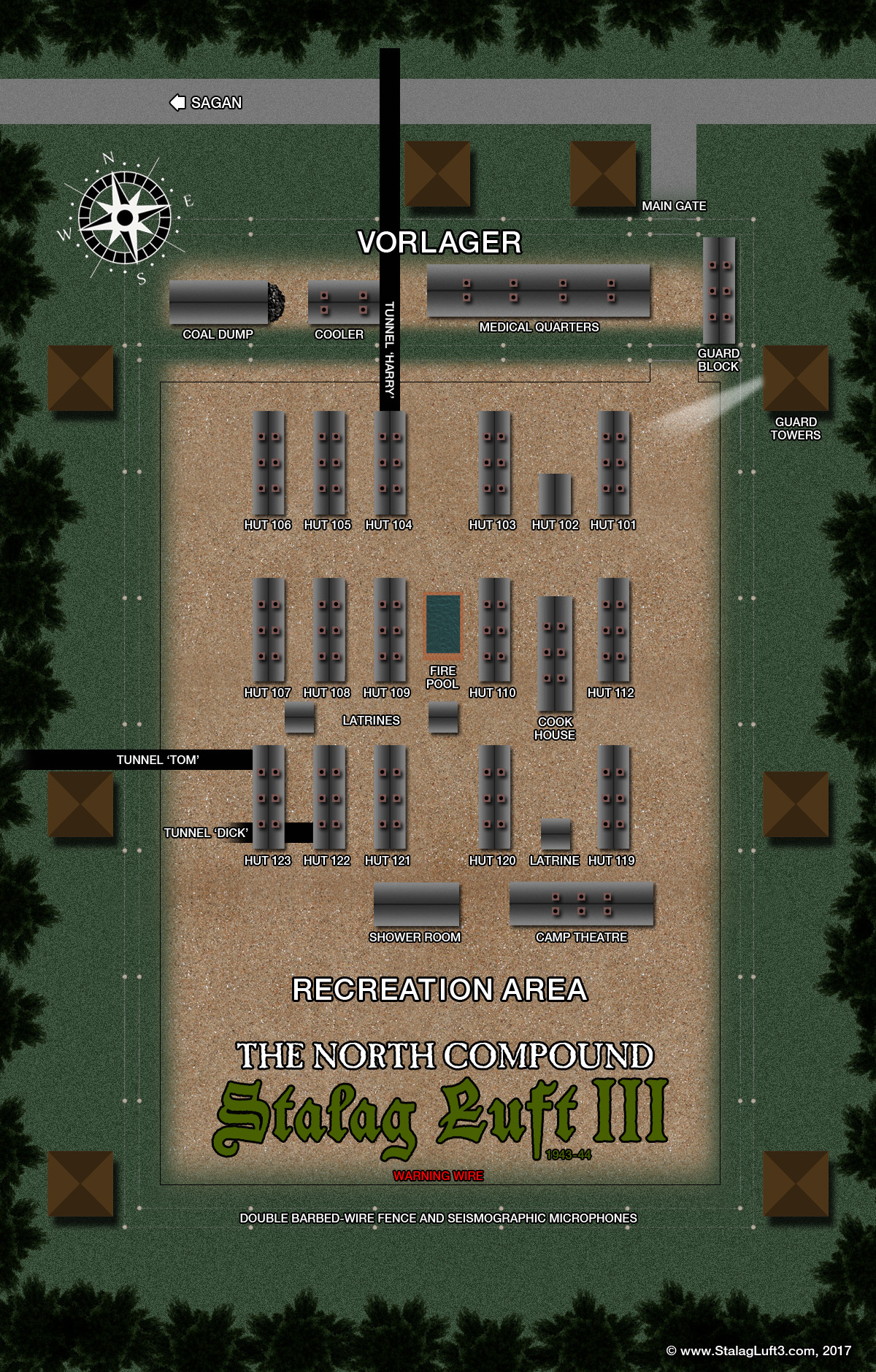 Map Stalag Luft III